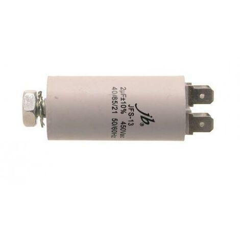 Condensador Trabajo Motor 2uF 450Vac 30x60mm FASTON Y M8 2MF450V 2AG0001