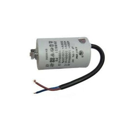 Condensador Trabajo Motor 2uF 450Vac Medidas 40x70mm Con CABLES