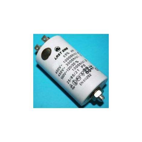 Condensador Trabajo Motor 40uF 450Vac Faston 43x90mm M8 12AG020