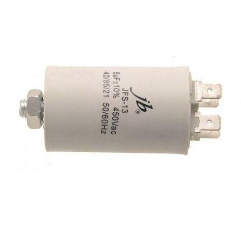 Condensador Trabajo Motor 5uF 450Vac 30x60mm FASTON Y M8 5MF450V 12AG025
