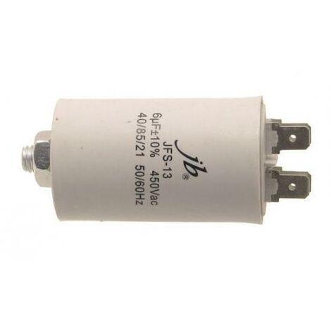 Condensador Trabajo Motor 6uF 450Vac 35x68mm FASTON Y M8 6MF450V 12AG023
