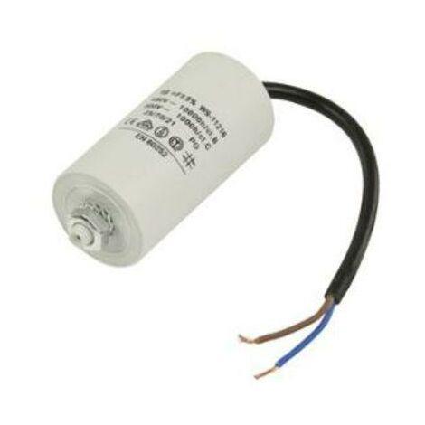 Condensador Trabajo Motor 80uF 450Vac Medidas 50x122mm Terminales CABLES