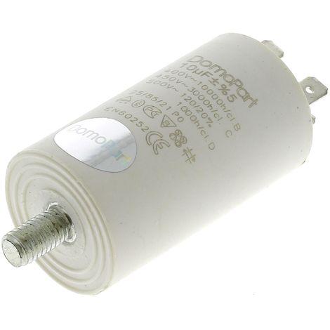 Condensateur 10µf 400v pour Lave-linge Bosch, Seche-linge Bosch, Lave-vaisselle De dietrich, Carburateur Walbro, Lave-linge Miele, Seche-linge Miele,