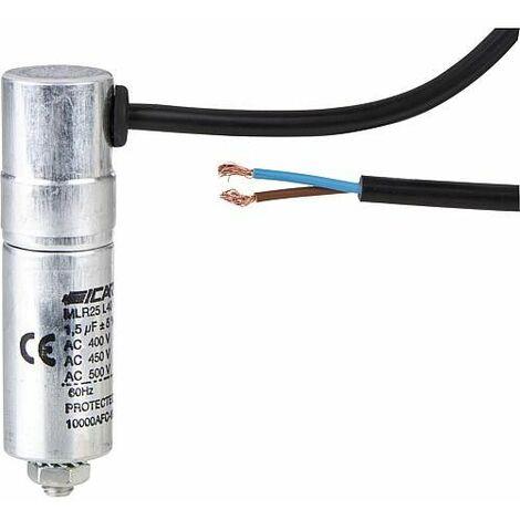 Condensateur - 1,5 pour moteur/pompe de circul jusq 400 V MLR25L4015 2563 J/C avec cable *BG*
