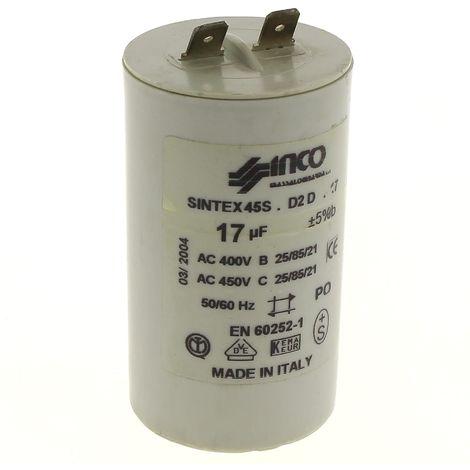 Condensateur 17µf 450v pour Nettoyeur haute pression Delta jet