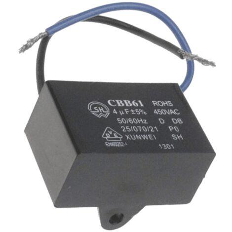 CONDENSATEUR 4 MF CBB61 POUR PETIT ELECTROMENAGER DELONGHI - AT5185750300