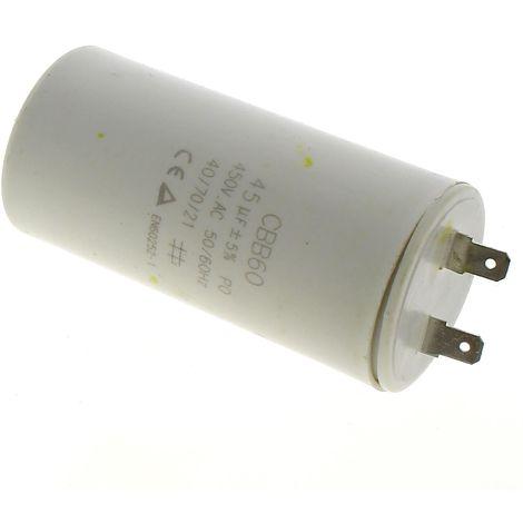 Condensateur 45µf/450v pour Broyeur vegetaux Bosch, Nettoyeur haute pression Mac allister, Nettoyeur haute pression Lavor