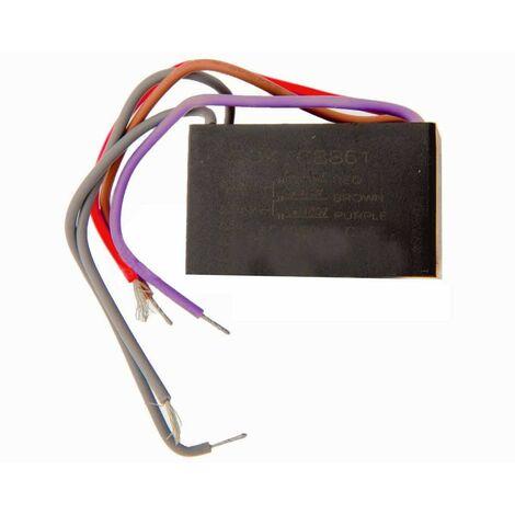 Condensateur 6 + 8 + 9 microfarads universel DCE elo CBB61 tension 250V C.A., 50/60 Hz