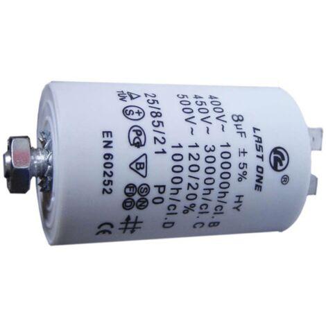 Condensateur 8 Mf 450v Last One CAP514UN Pour LAVE LINGE