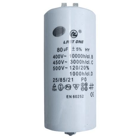 Condensateur 80 µf De Demarrage 9010545 Pour LAVE LINGE