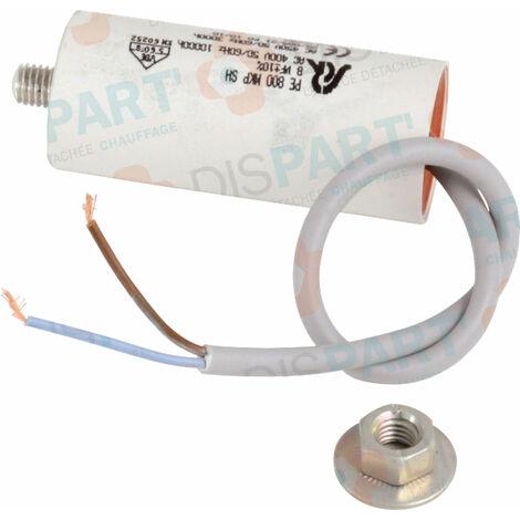Condensateur, 8Uf , ATLANTIC GUILLOT, Ref. 60081
