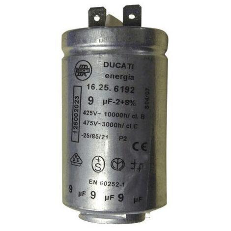 Condensateur 9 Mf 425 V 125002022 Pour LAVE LINGE