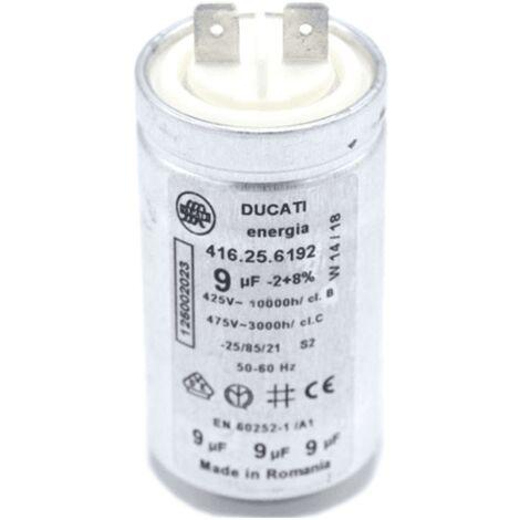Condensateur 9 Mf 450 V 416256192 Pour SECHE LINGE