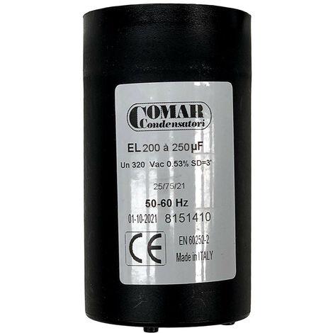 """main image of """"Condensateur de démarrage 200µF à 250µF - 250V"""""""