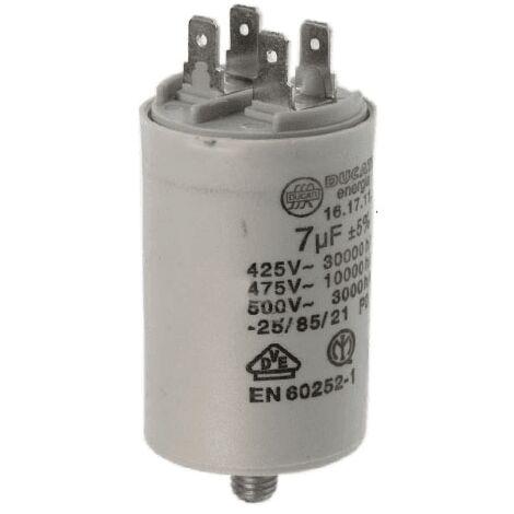 Condensateur De Demarrage 7uf 450v 6 416171164 Pour SECHE LINGE
