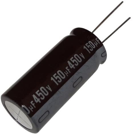 10x Condensateur électrolytique chimique 22µF ±20/% 400V THT 85°C 2000h Ø16x25mm