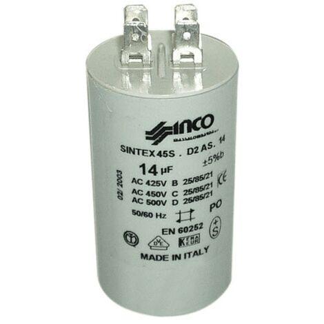 Condensateur Permanent 14mf 450v 284982 Pour LAVE LINGE