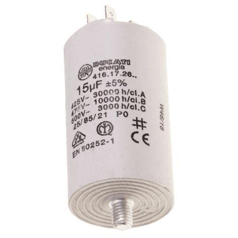 Condensateur Permanent 15 Mf 450v 416172664 Pour LAVE LINGE