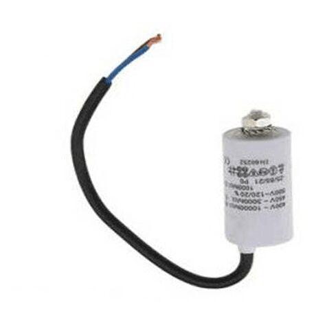 Condensateur Permanent 2 Mf A Fils 450v 992.627 Pour LAVE LINGE