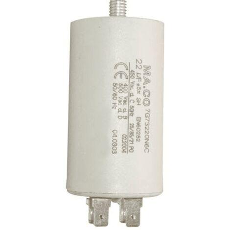 Condensateur Permanent 22µf 450v 7810944 Pour LAVE LINGE