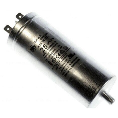 Condensateur Permanent 25 Mf 450 V 284627 Pour LAVE LINGE