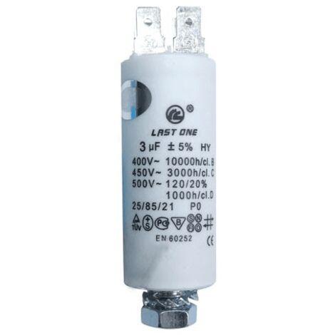 Condensateur Permanent 3 Mf 450v 9010426 Pour LAVE LINGE