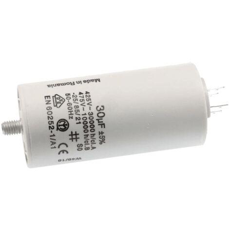Condensateur Permanent 30 µf 450 V 333606 Pour LAVE LINGE