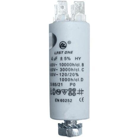 Condensateur Permanent 4 Mf 450v 9010424 Pour LAVE LINGE