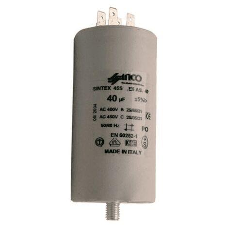 Condensateur Permanent 40 Mf 400/450v 246519 Pour LAVE LINGE