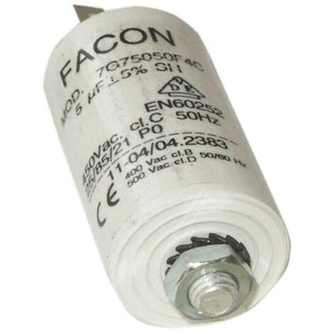 Condensateur Permanent 5 Mf 450v 246477 Pour LAVE LINGE
