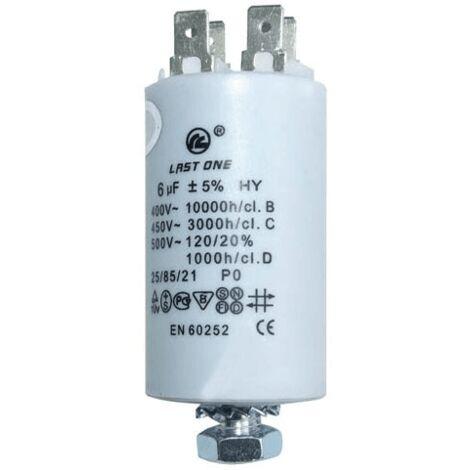 Condensateur Permanent 6µf 450v 9010349 Pour LAVE LINGE