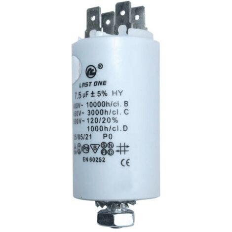 Condensateur Permanent 7.5 Mf 450 V 9010306 Pour SECHE LINGE
