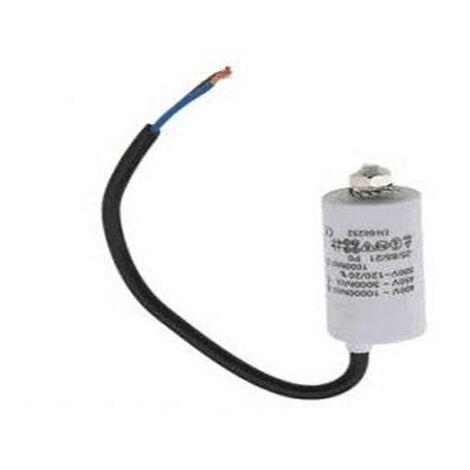 Condensateur Permanent 8 Mf A Fils 450 V 992.624 Pour LAVE LINGE