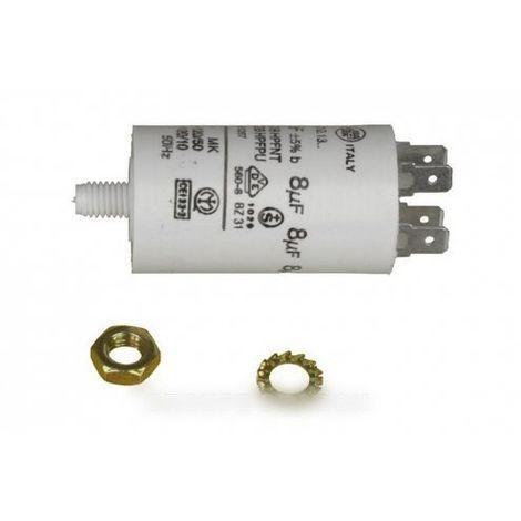 condensateur permanent 8 uf 450 v pour lave linge CONSTRUCTEURS DIVERS