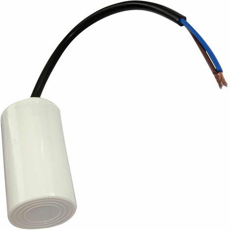 Condensateur permanent de travail pour moteur 10µF 450V précâblé Ø35x60mm ±5% 3000h