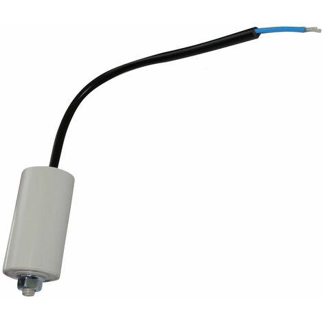 Condensateur permanent de travail pour moteur 10µF 450V précâblé Ø35x65mm ±10% 10000h