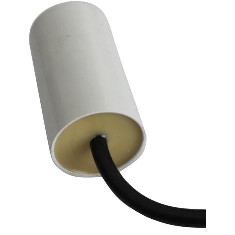 Condensateur permanent de travail pour moteur 12µF 450V précâblé