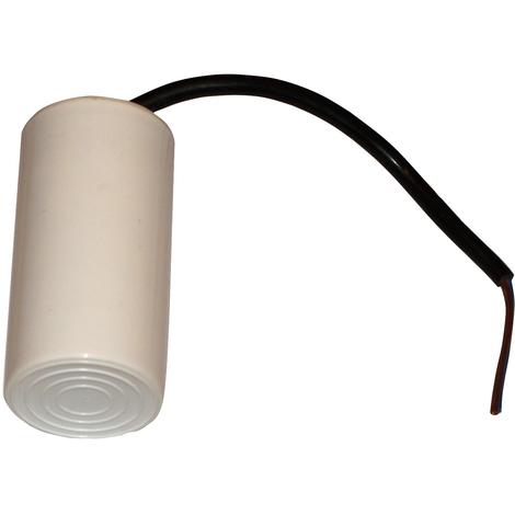 Condensateur permanent de travail pour moteur 20µF 450V avec câble 15cm précâblé