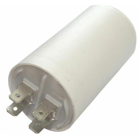 Condensateur permanent de travail pour moteur 20µF 450V avec cosses Ø40x70mm ±5% 3000h