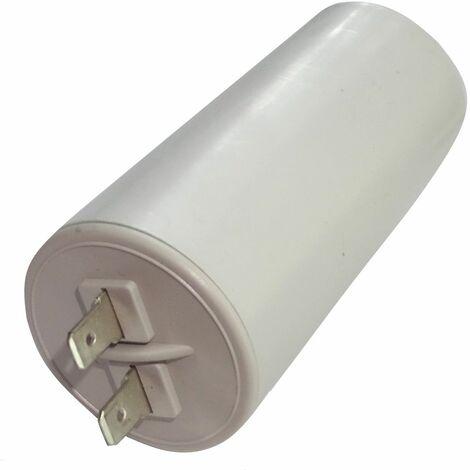 Condensateur permanent de travail pour moteur 20µF 450V avec cosses Ø40x83mm ±10% 10000h