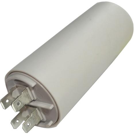 Condensateur permanent de travail pour moteur 25µF 425V avec cosses Ø40x92mm ±5% 10000h