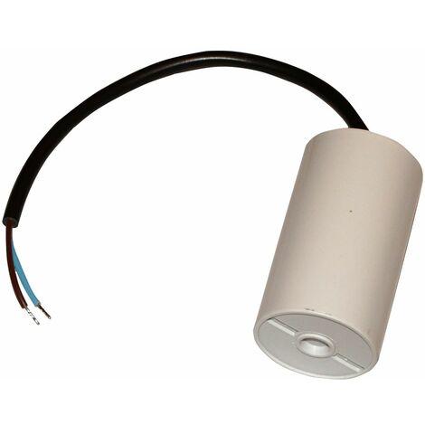 Condensateur permanent de travail pour moteur 25µF 450V avec câble 25cm précâblé
