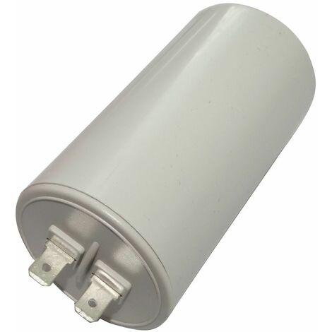Condensateur permanent de travail pour moteur 25µF 450V avec cosses Ø45x83mm ±10% 10000h