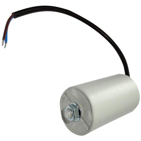Condensateur permanent de travail pour moteur 25µF 450V précâblé Ø45x78mm ±10% 10000h
