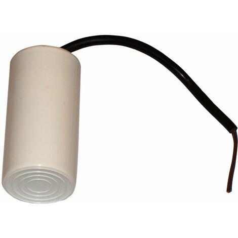 Condensateur permanent de travail pour moteur 30µF 450V avec câble 15cm précâblé