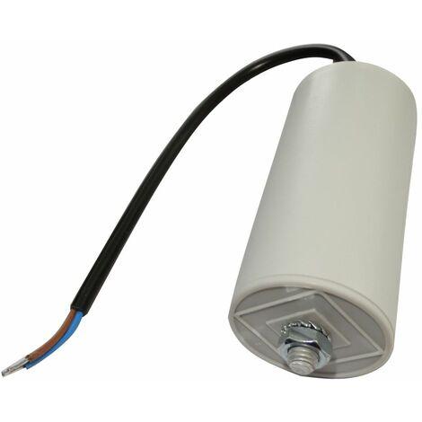 Condensateur permanent de travail pour moteur 40µF 425V précâblé Ø45x92mm ±5% 10000h