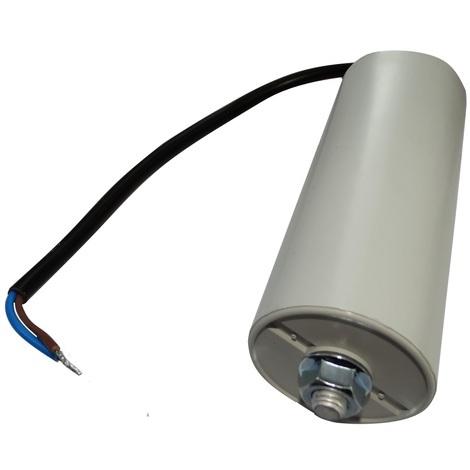 Condensateur permanent de travail pour moteur 40µF 450V précâblé Ø45x114mm ±10% 10000h