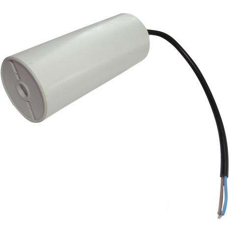 Condensateur permanent de travail pour moteur 60µF 450V précâblé Ø50x119mm ±10% 10000h