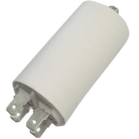 Condensateur permanent de travail pour moteur 8µF 450V avec cosses Ø35x65mm ±5% 3000h