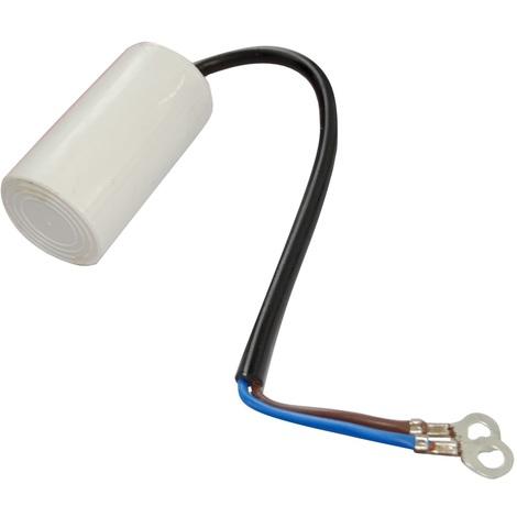 Condensateur permanent de travail pour moteur 8µF 450V précâblé Ø35x60mm ±5% 3000h
